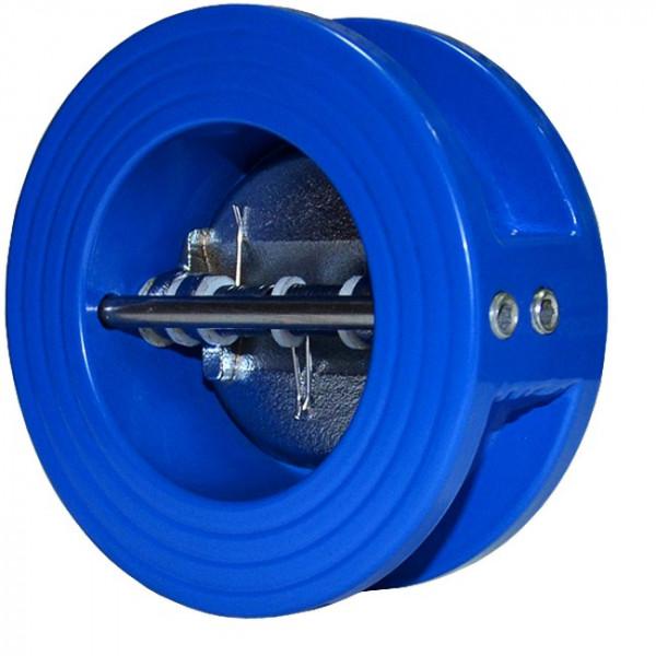 Клапан (затвор) обратный чугунный межфланцевый подпружиненный«хлопушка» Ду 125, Ру 1,6 МПа
